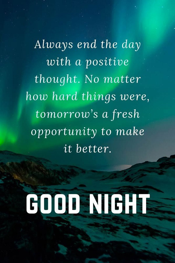 qoute for good night 7