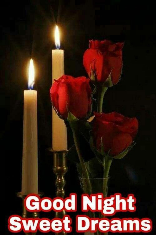 roses and candle