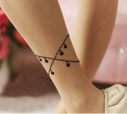 ankle bracelet tattoo picture 45