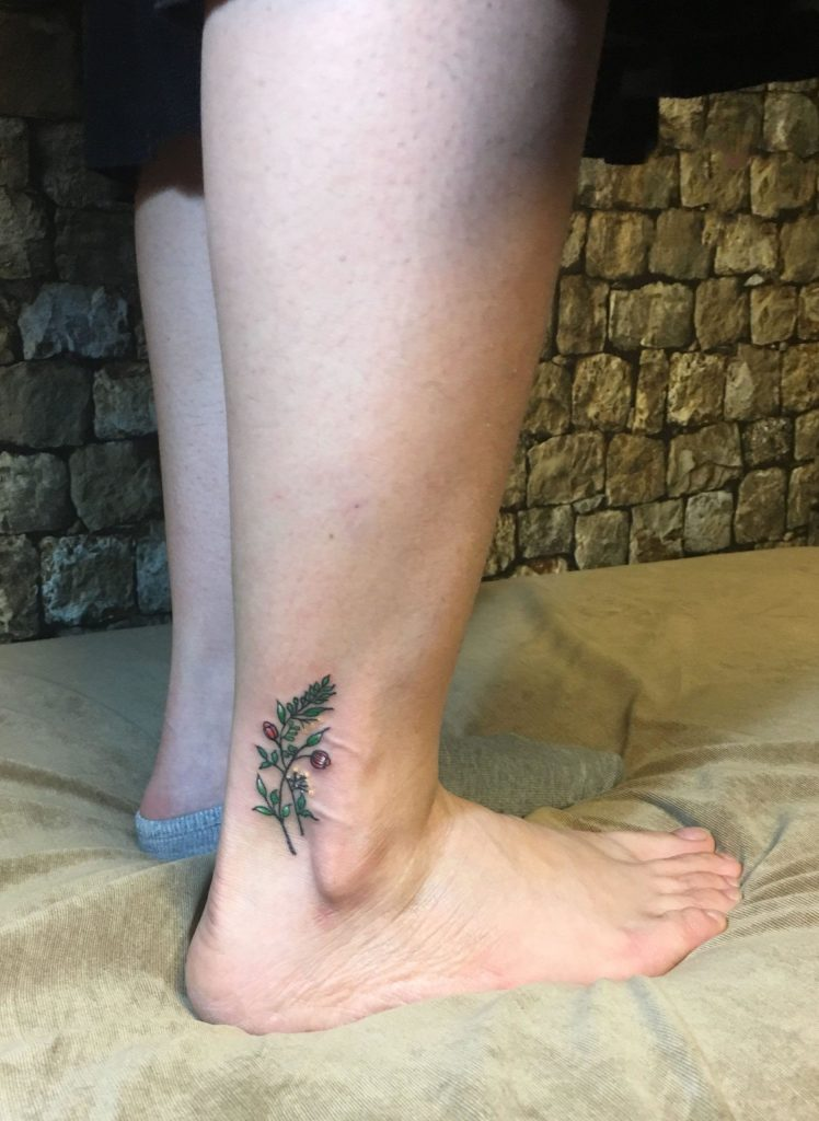 ankle tattoo image 22