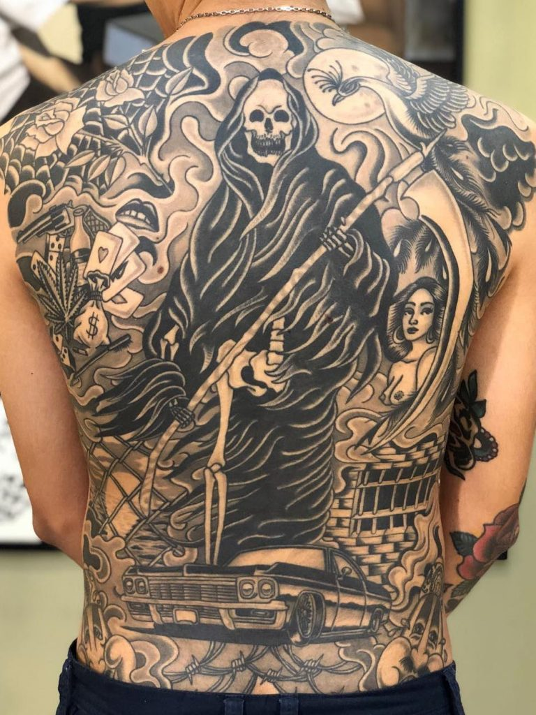 grim reaper tattoo 5