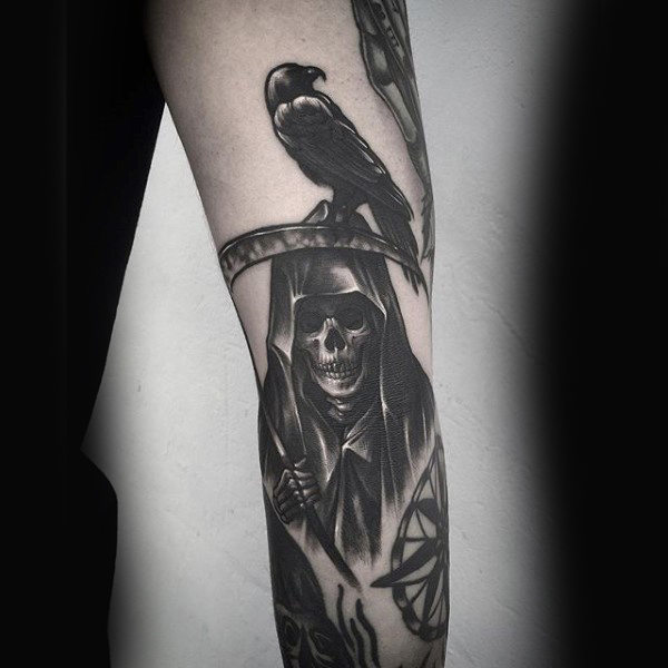 grim reaper tattoo photo 35
