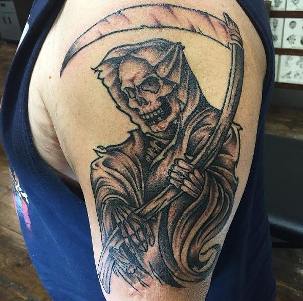 grim reaper tattoo photo 36