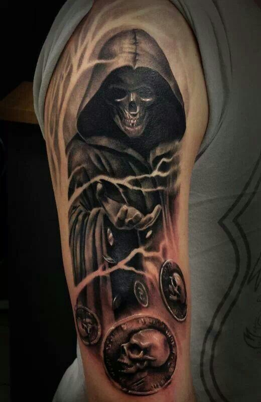grim reaper tattoo picture 42 1