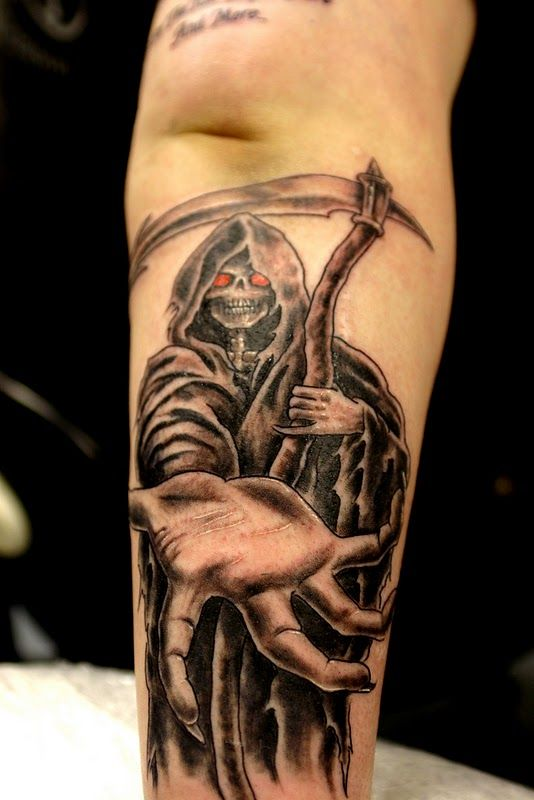 grim reaper tattoo picture 43 1