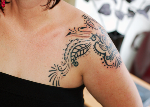 shoulder tattoo for girl picture 37