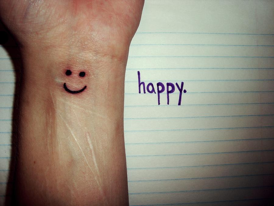 smiley face tattoo 12
