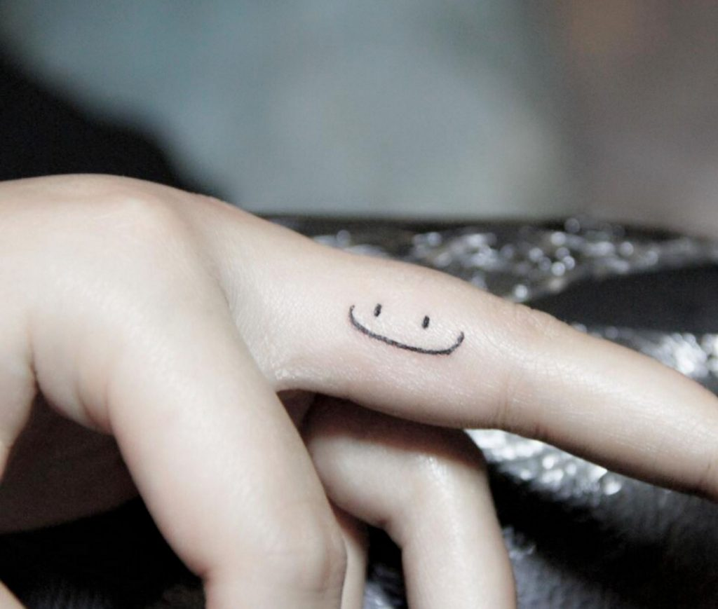 smiley face tattoo 17