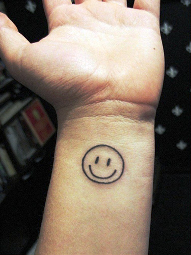 smiley face tattoo 2