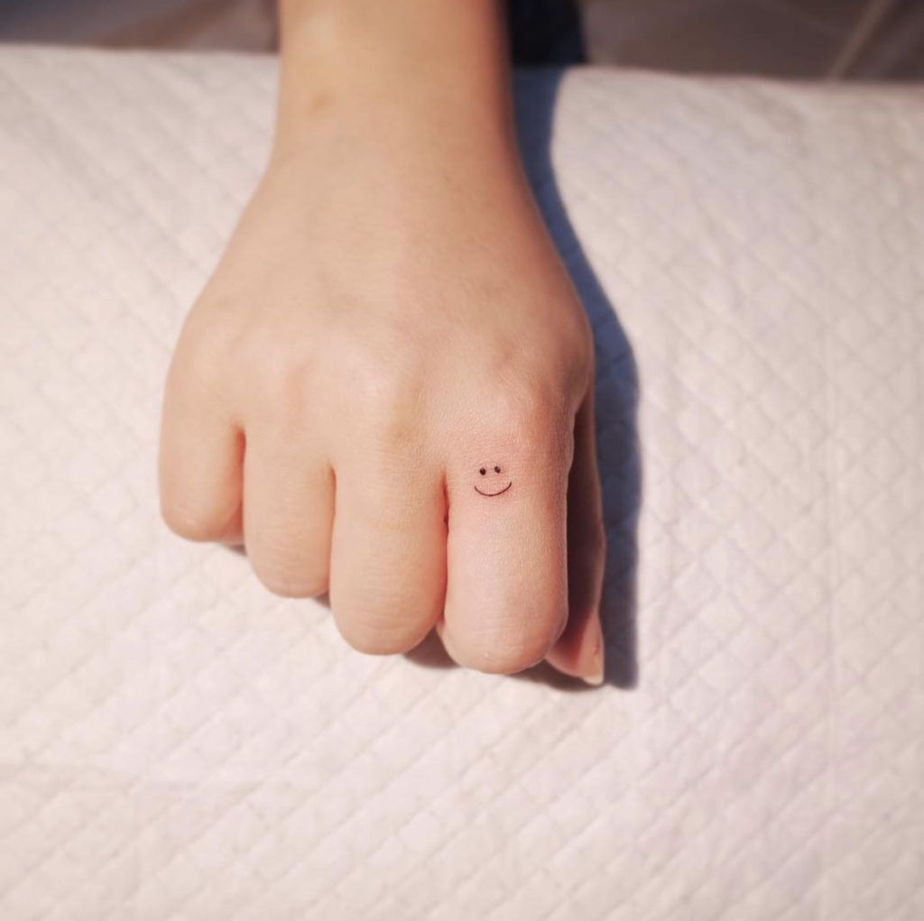 smiley face tattoo 21