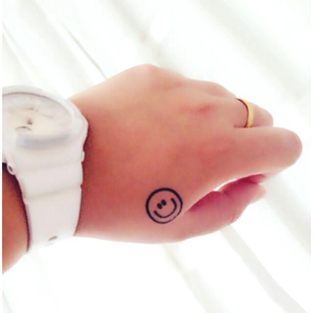 smiley face tattoo 33
