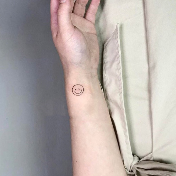 smiley face tattoo 35