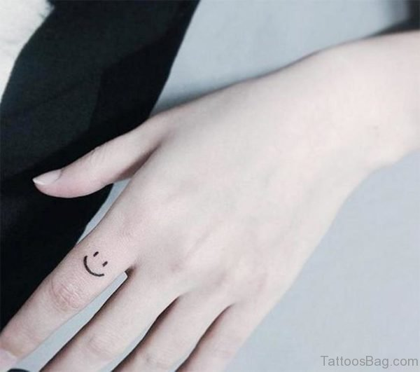 smiley face tattoo 49