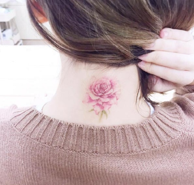 tattoo on the back of the neck 26