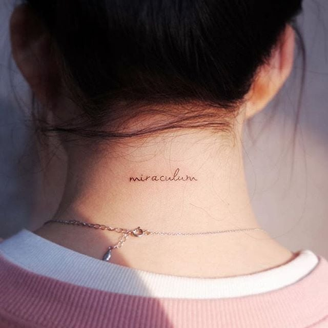tattoo on the back of the neck 27