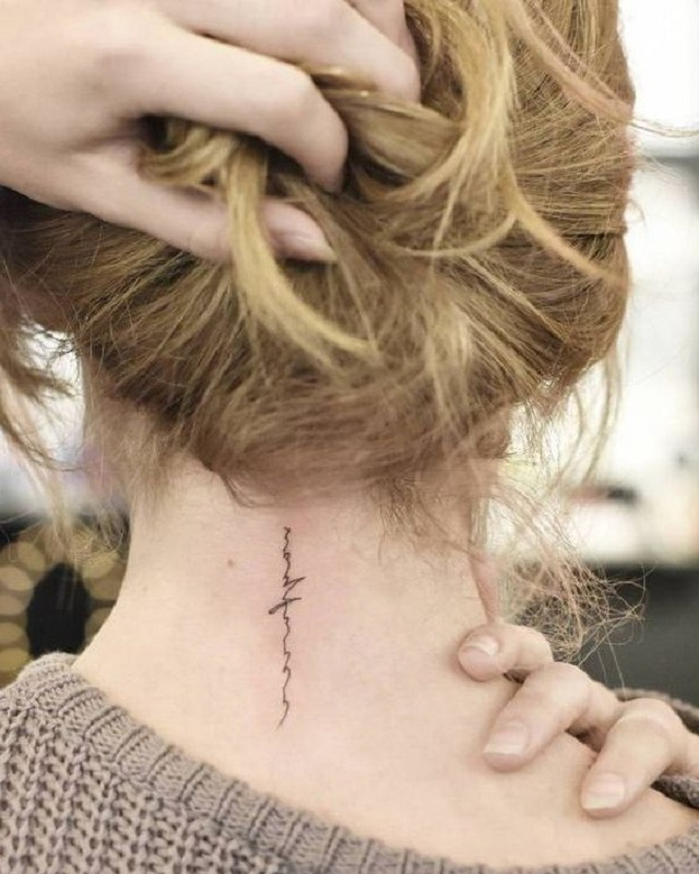 tattoo on the back of the neck 28