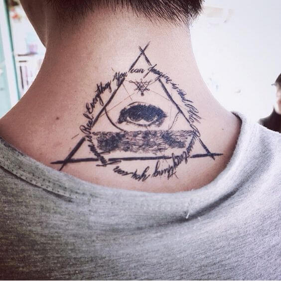 tattoo on the back of the neck 37