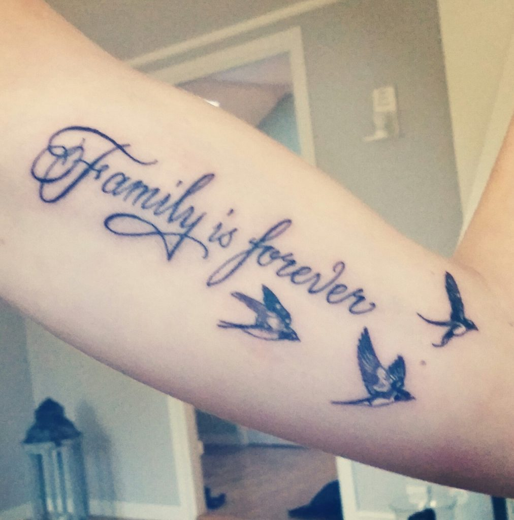 12 family is forever tattoo ideas