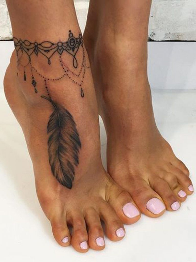 ankle tattoo for girl ideas 12