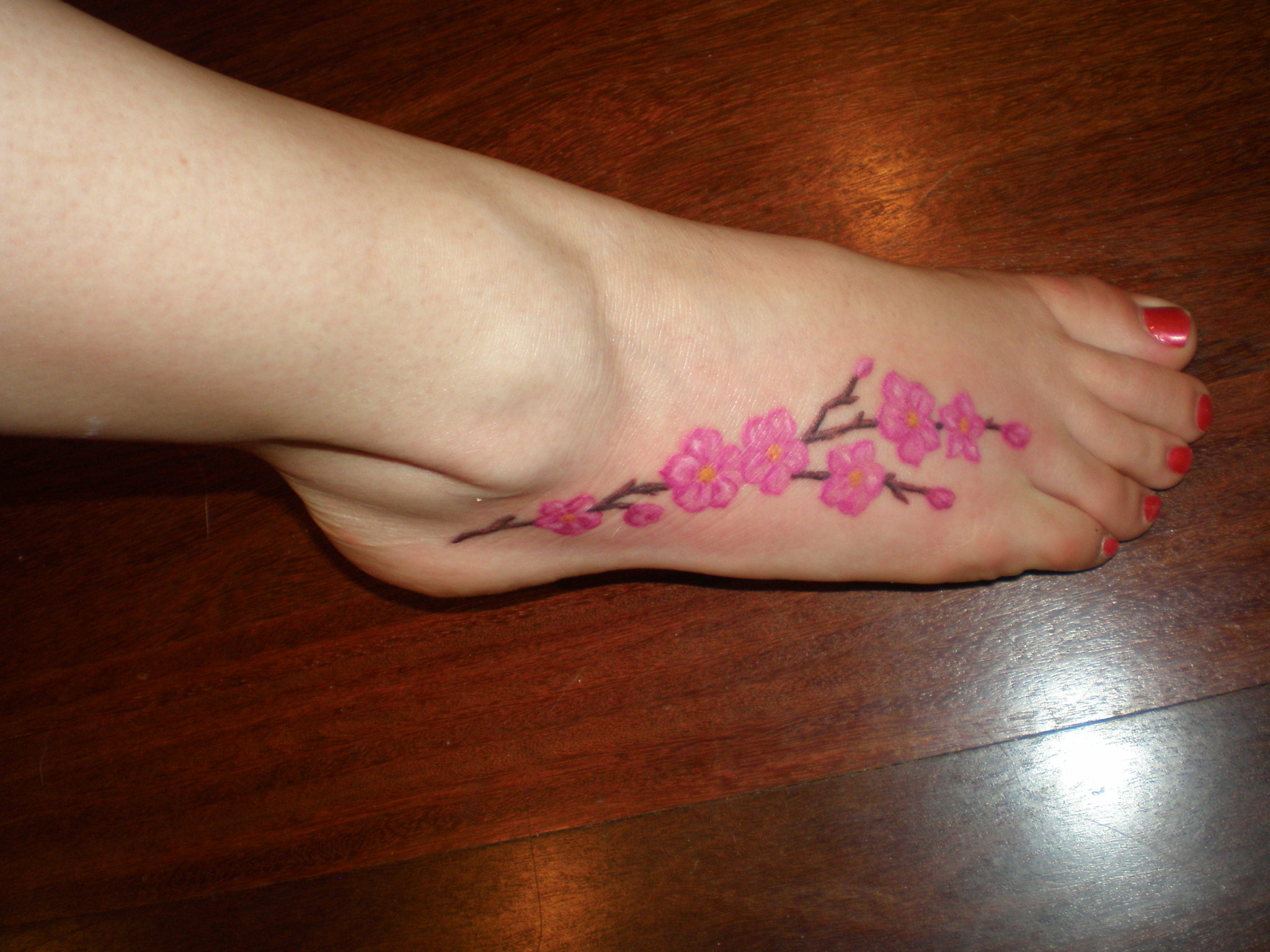 Ankle tattoo for girl photo