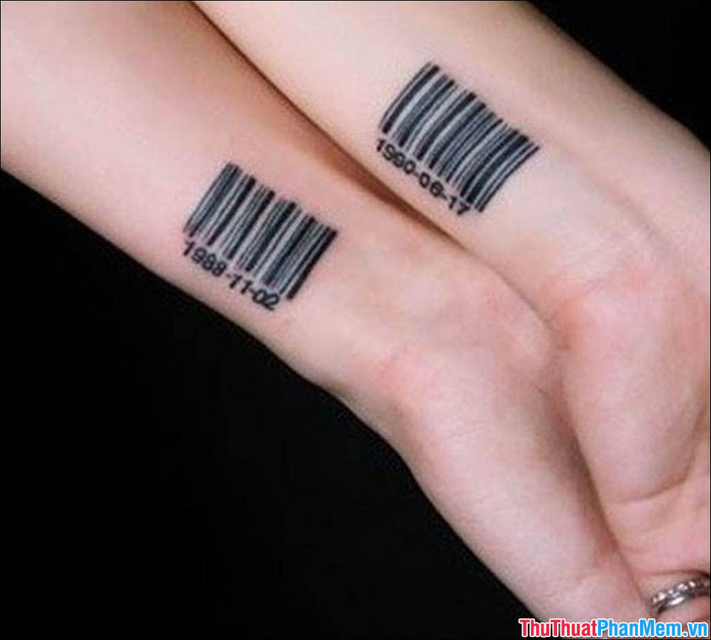 Barcode tattoo picture