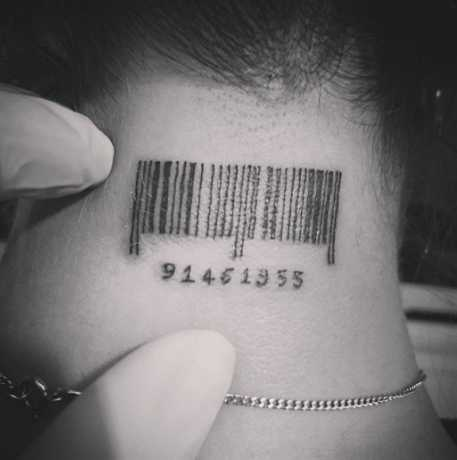 barcode tattoo picture 45