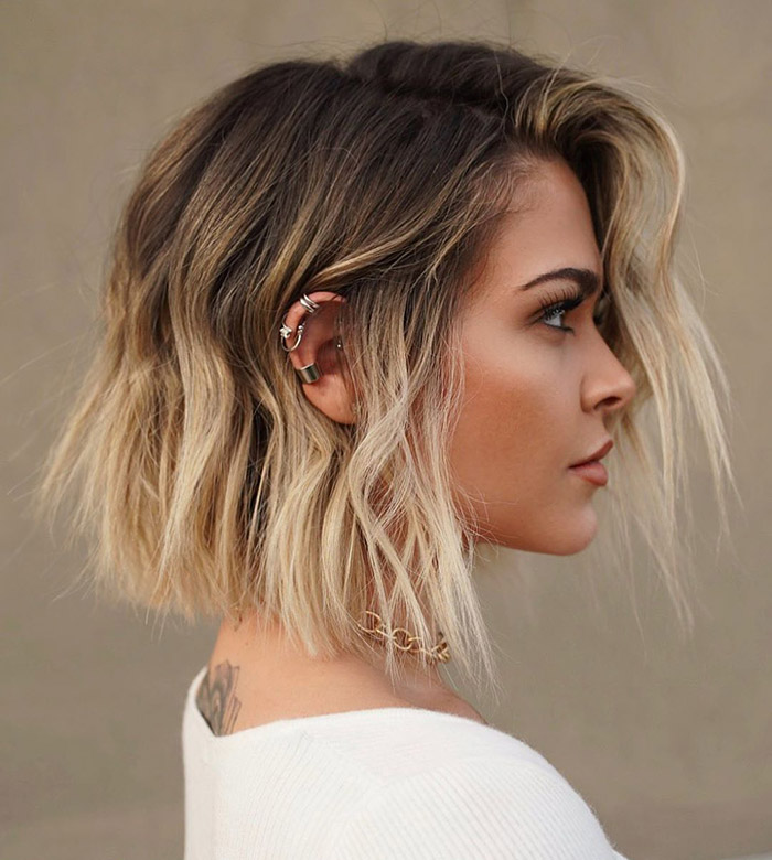 blonde ombre with bob hair