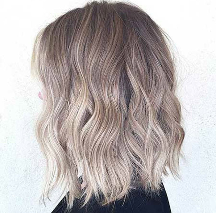 brown to ash blonde ombre short hair