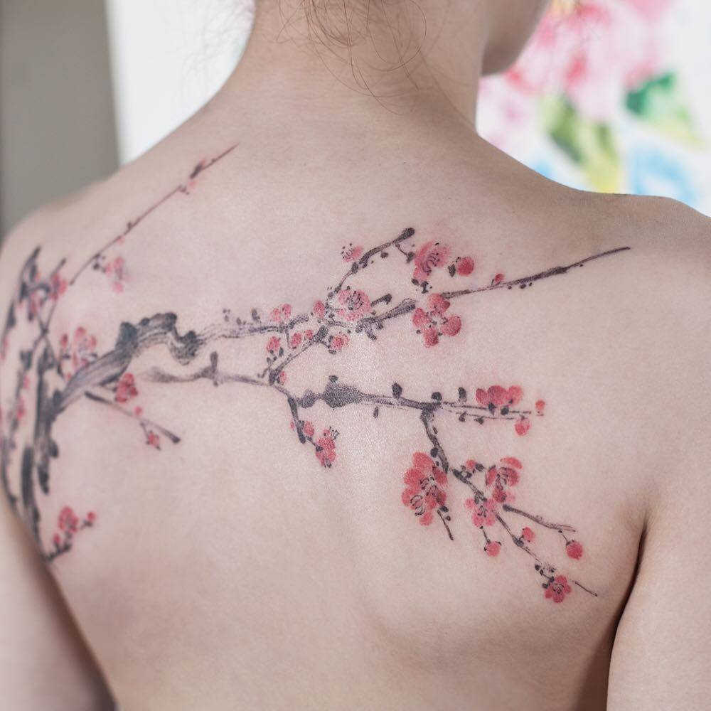 Cherry blossom tattoo picture