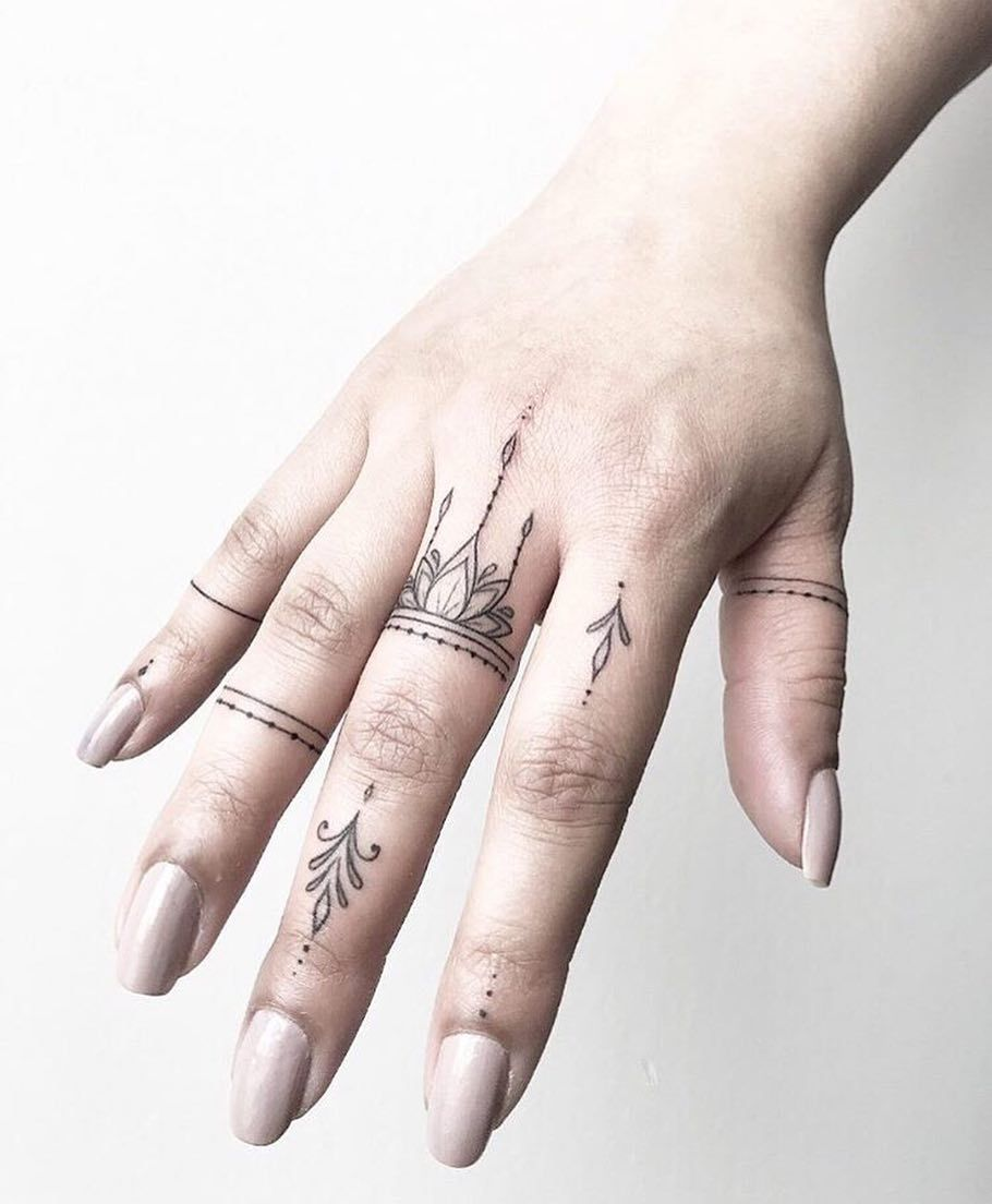Finger tattoo picture