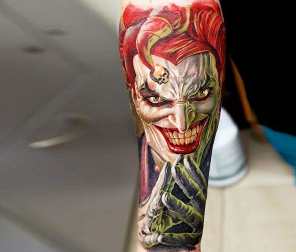 joker tattoo design 9