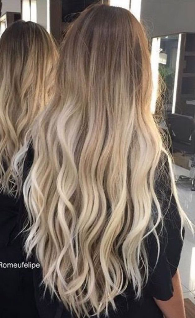 light brown to blonde ombre long hair