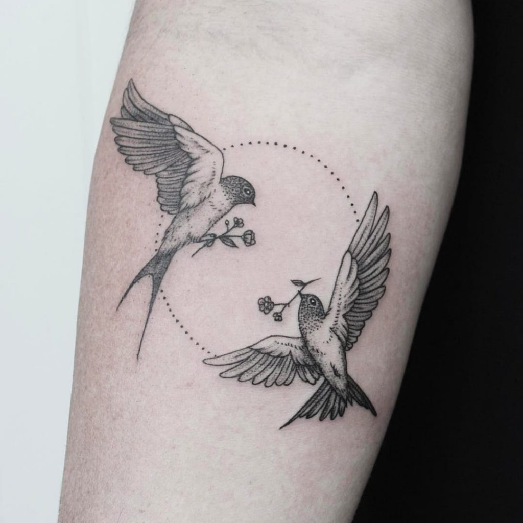 swallow tattoo design 6
