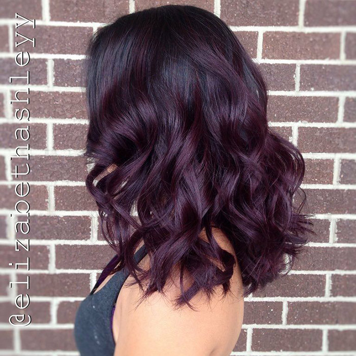 Best dark purple hair color