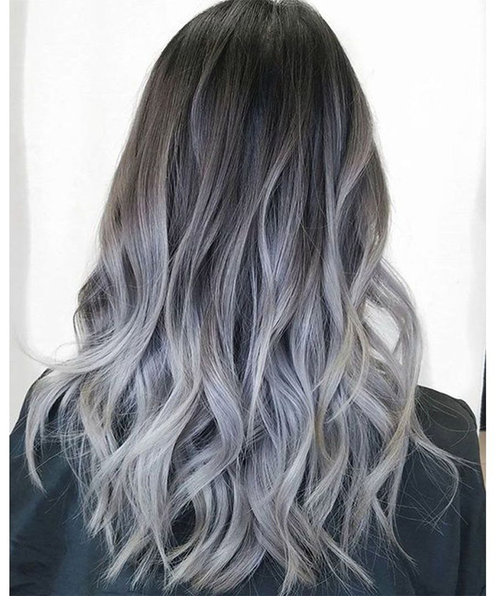 Best grey ombre hairstyle