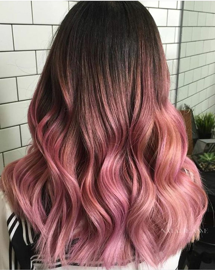 Best pink ombre hair color