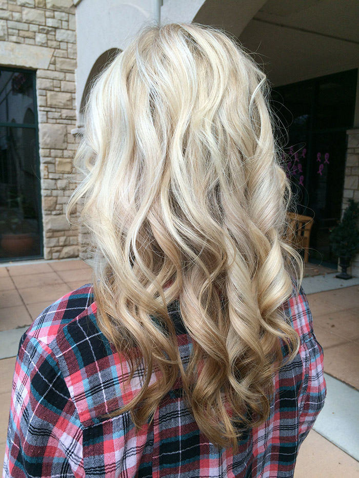 blonde to brown ombre