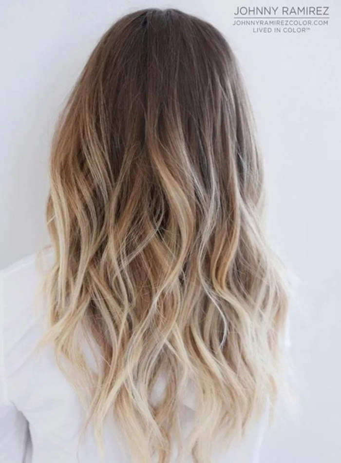 brown to blonde ombre long hair 1