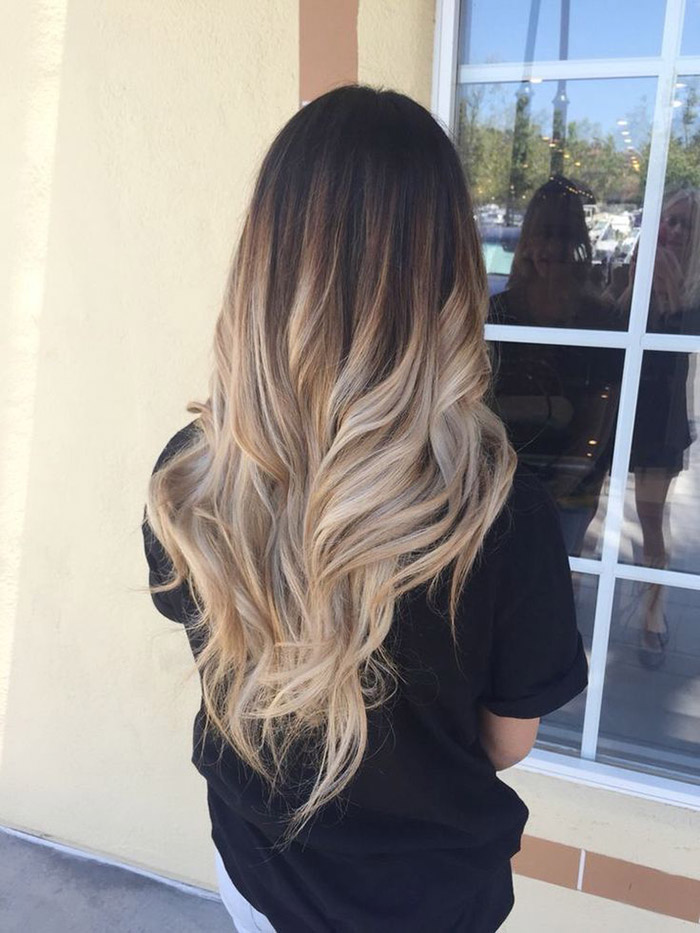 brown to blonde ombre long hair 3