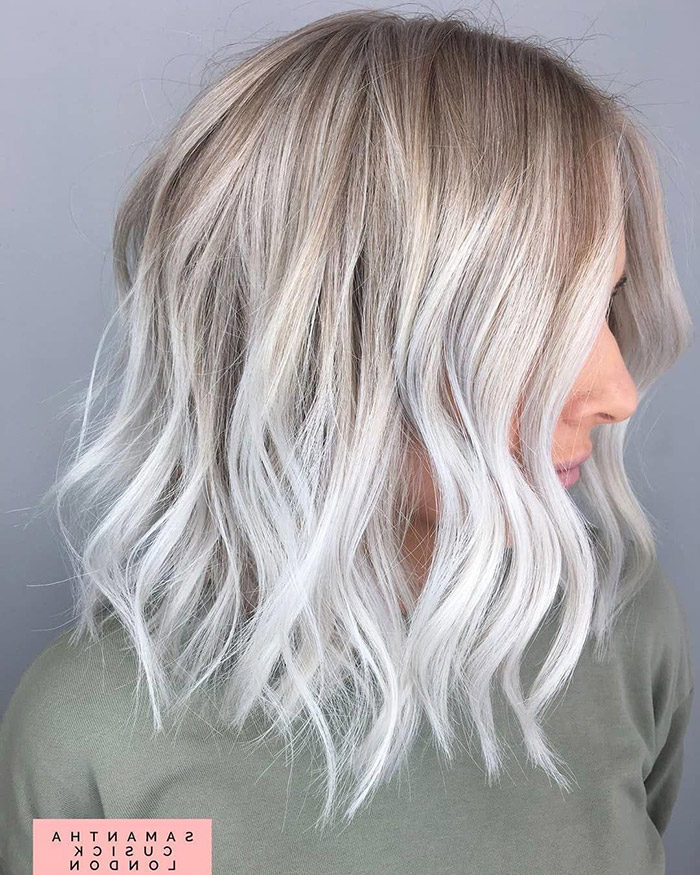 brown to platinum blonde ombre short hair