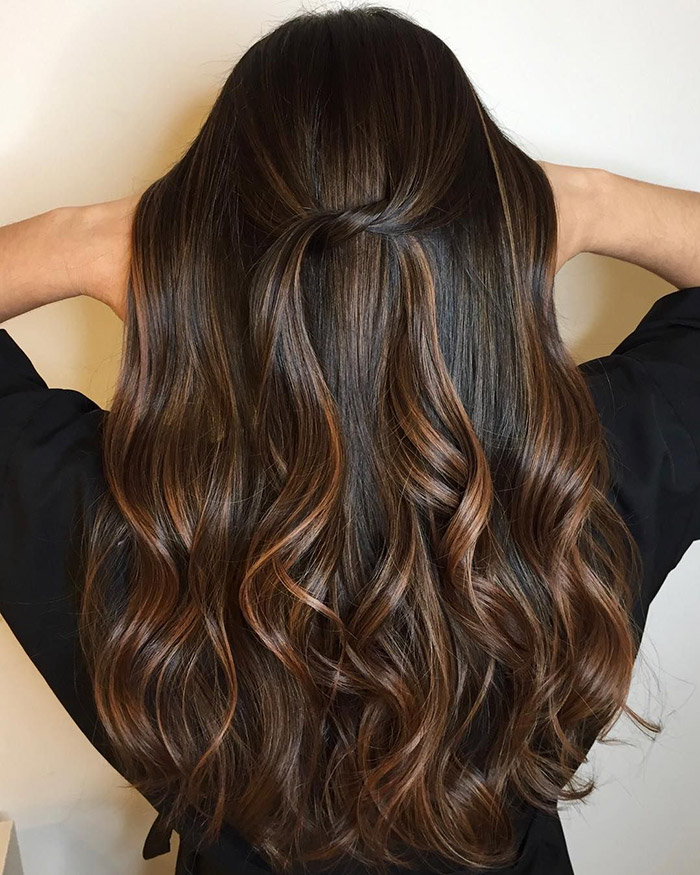 dark brown to chocolate ombre
