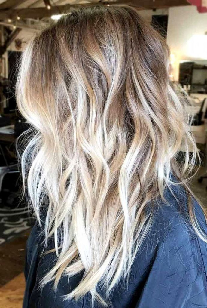 light brown to blonde with beach waves