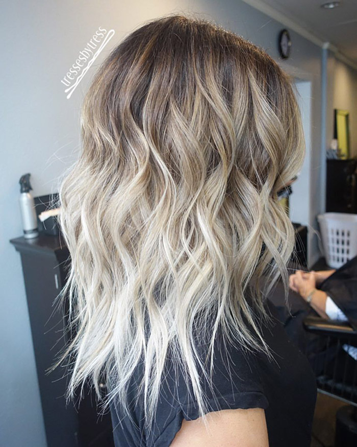 light brown to platinum blonde ombre 1