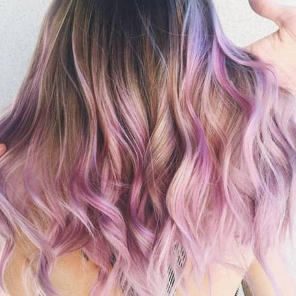 light pink and purple ombre