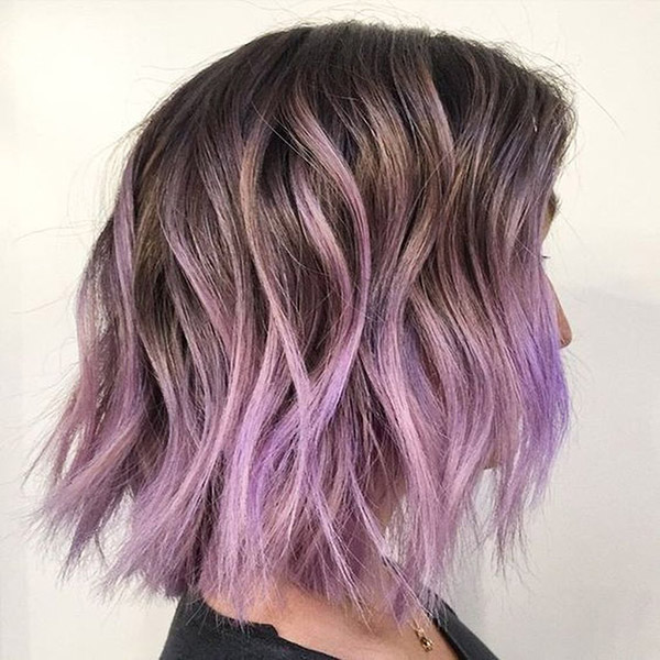 pastel purple in ombre style