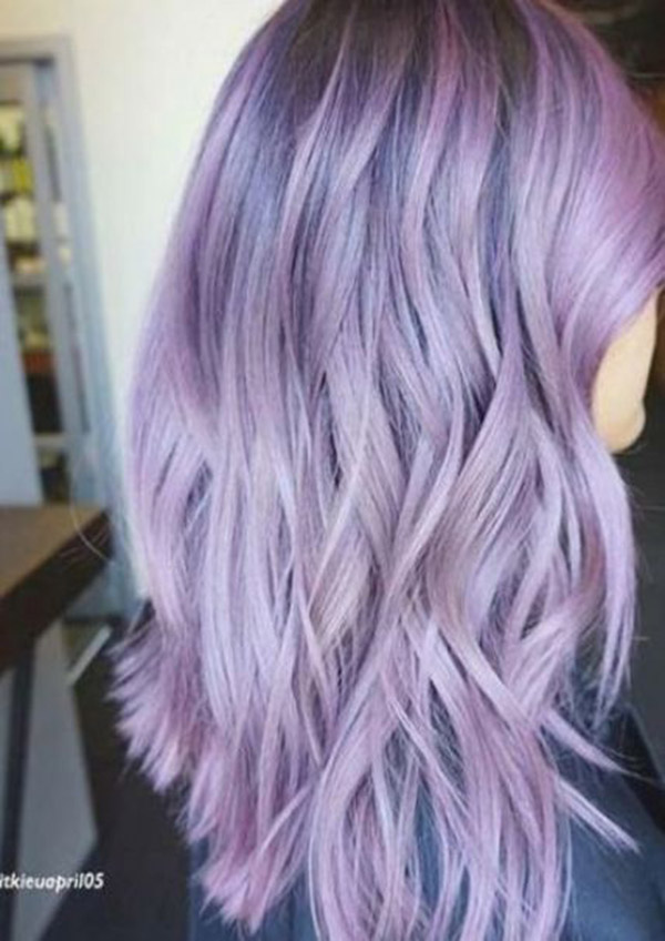 pink and pastel lavender hair