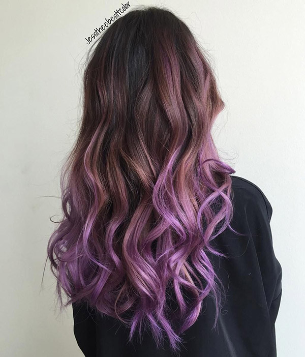 brown to purple ombre
