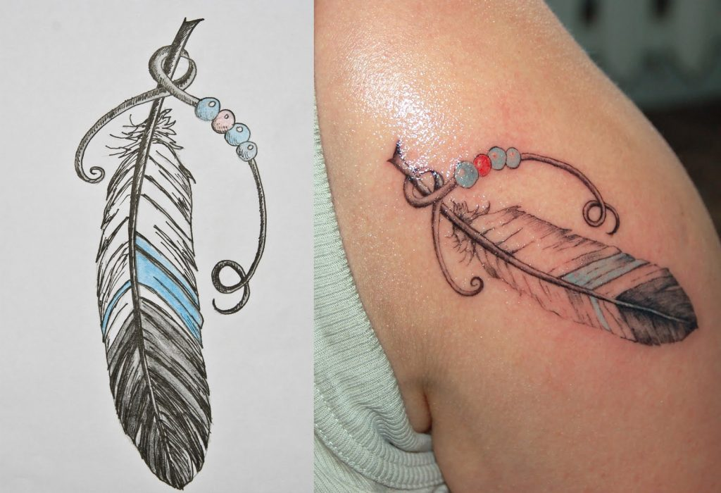 feather tattoo image 24