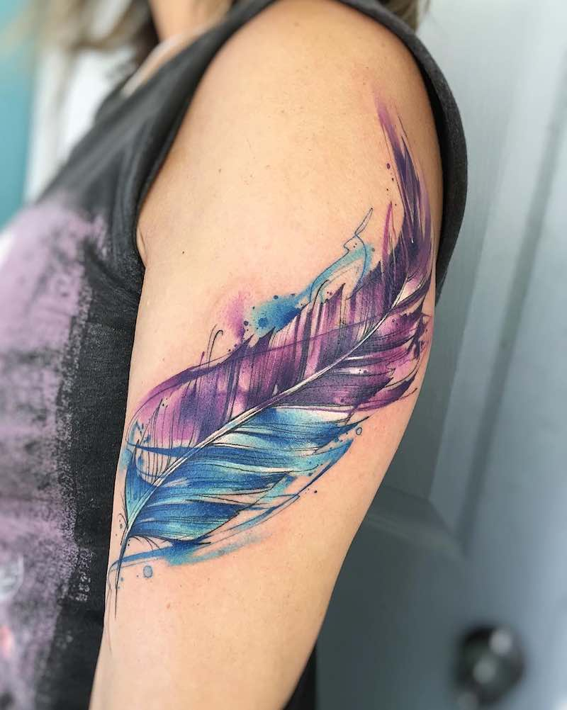 feather tattoo image 29
