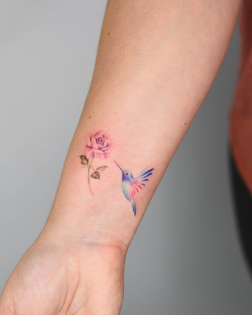 peony flower tattoo picture 48